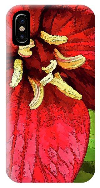 Ruby Red Trillium IPhone Case