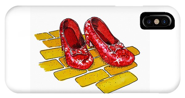 Wizard iPhone X / XS Case - Ruby Slippers The Wizard Of Oz  by Irina Sztukowski