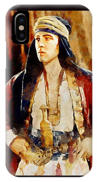 Rudolph Valentino As The Sheikh IPhone Case