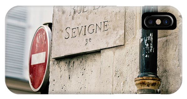IPhone Case featuring the photograph Rue De Sevigne - Paris Photography by Melanie Alexandra Price