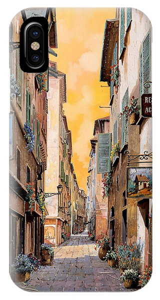Provence iPhone Case - Rue Droite Nice  by Guido Borelli