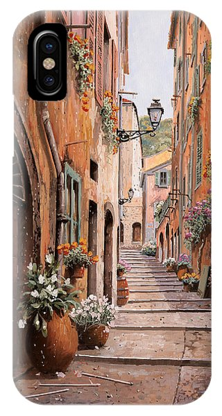 Nice iPhone Case - rue Malonat in  Nice  by Guido Borelli