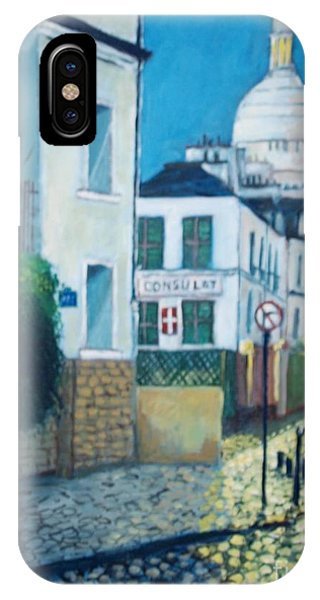 Rue Norvins, Paris IPhone Case