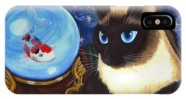 Rue Rue's Fortune - Siamese Cat Koi IPhone Case