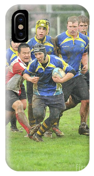 Rugby In The Mud IPhone Case