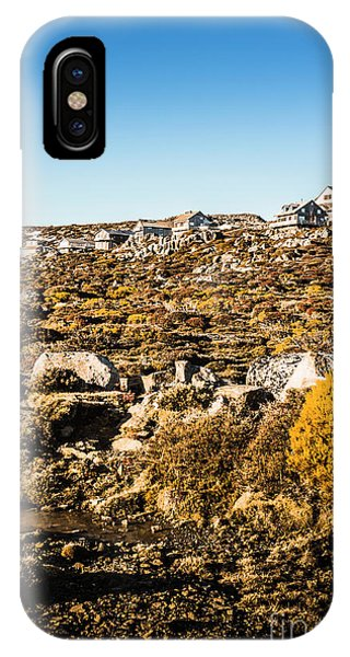 Ben iPhone Case - Rugged Mountain Town by Jorgo Photography - Wall Art Gallery