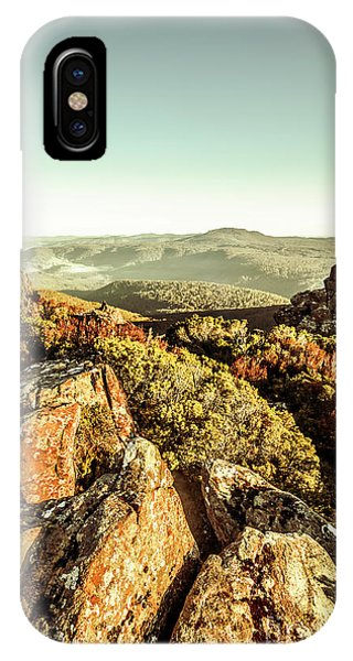 View Point iPhone Case - Rugged Mountaintops To Regional Valleys by Jorgo Photography - Wall Art Gallery