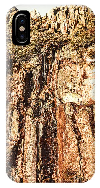 Rock Formation iPhone Case - Rugged Vertical Cliff Face by Jorgo Photography - Wall Art Gallery