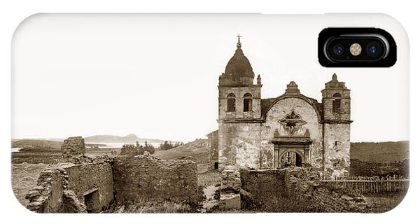 Ruins Of Carmel Mission, Monterey, Cal. Circa 1882 IPhone Case