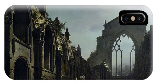 Dracula iPhone Case - Ruins Of Holyrood Chapel by Louis Jacques Mande Daguerre