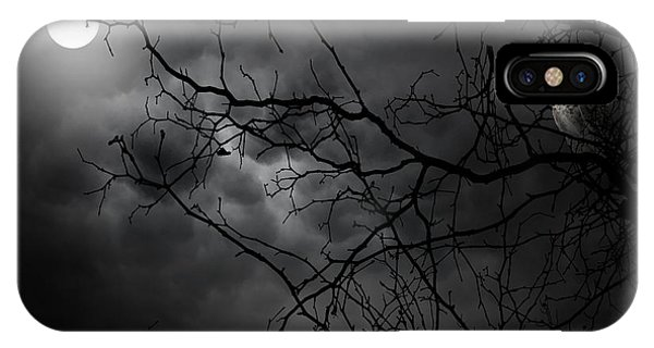 Gloomy iPhone Case - Ruler Of The Night by Lourry Legarde