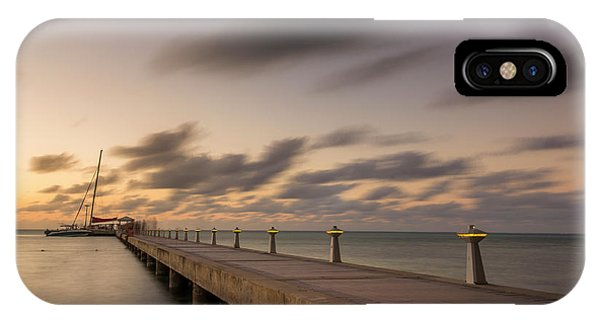 IPhone Case featuring the photograph Rum Point Grand Cayman At Dusk by Adam Romanowicz