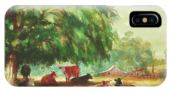 Ranch iPhone Case - Rumination by Steve Henderson