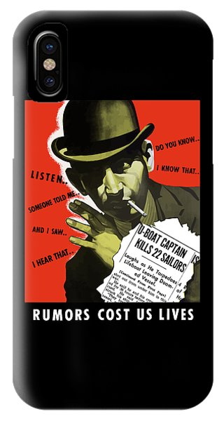 Rumors Cost Us Lives IPhone Case