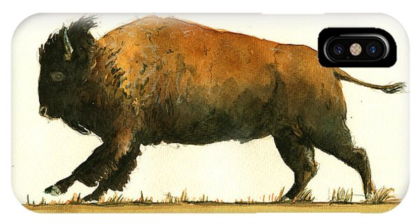 Running American Buffalo IPhone Case