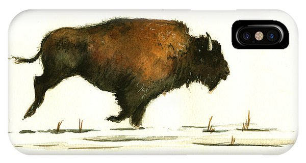 Running Buffalo IPhone Case