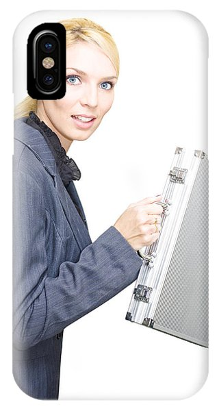 Running Business Woman IPhone Case