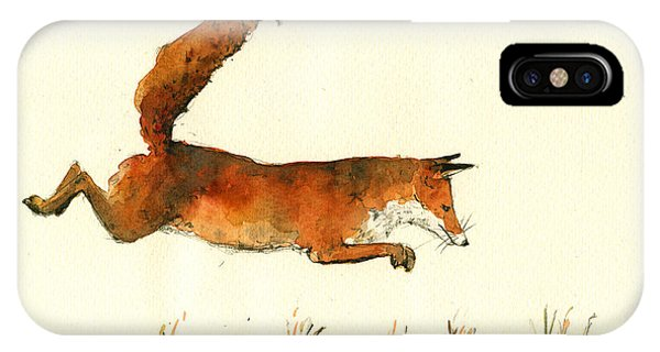 Running Fox IPhone Case