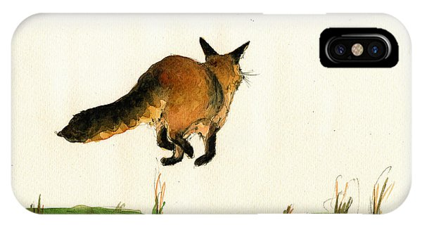 Running Fox Painting IPhone Case