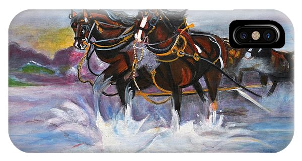 Running Horses- Beach Gallop IPhone Case