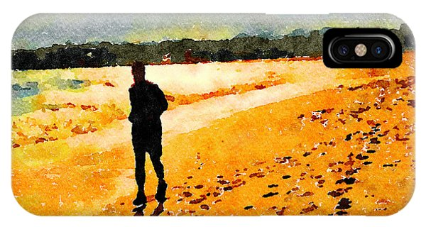 IPhone Case featuring the painting Running In The Golden Light by Angela Treat Lyon