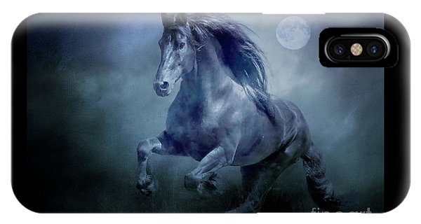 Running With The Moon IPhone Case