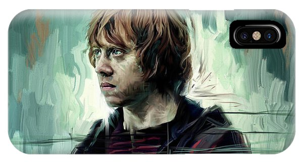 Hogwarts iPhone Case - Rupert Grint As Ronald Weasley by Garth Glazier