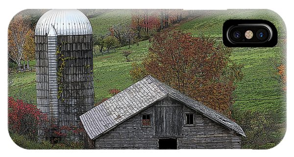 Rupert Mountain Face Barn IPhone Case