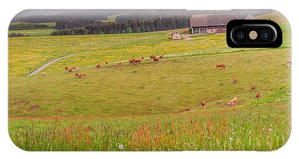 Rural Black Forest Landscape IPhone Case