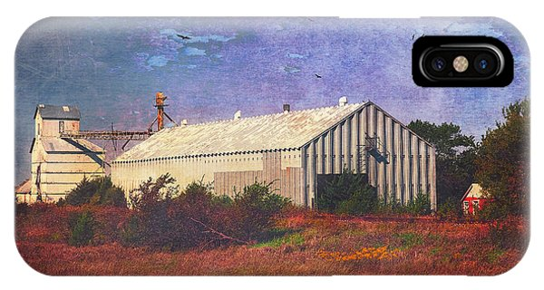 IPhone Case featuring the photograph Rural Grain Elevator by Anna Louise