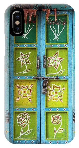 Indian Village iPhone Case - Rural Indian House Doors by Tim Gainey