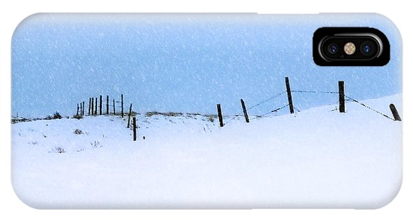 Rural Prairie Winter Landscape IPhone Case