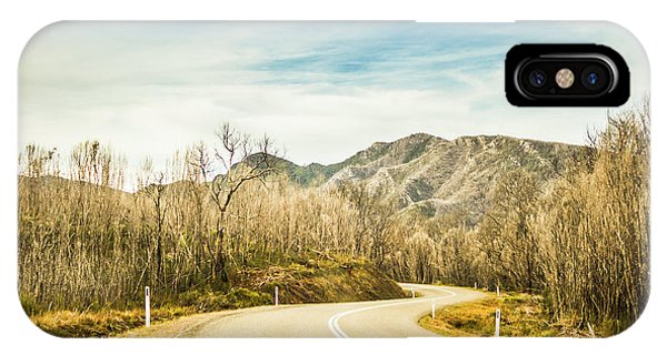 Rural iPhone Case - Rural Road To Australian Mountains by Jorgo Photography - Wall Art Gallery
