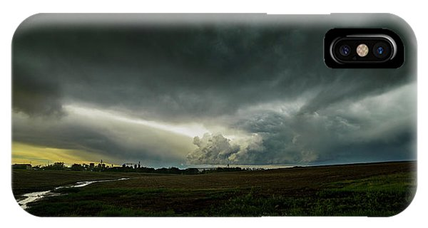 Rural Spring Storm Over Chester Nebraska IPhone Case