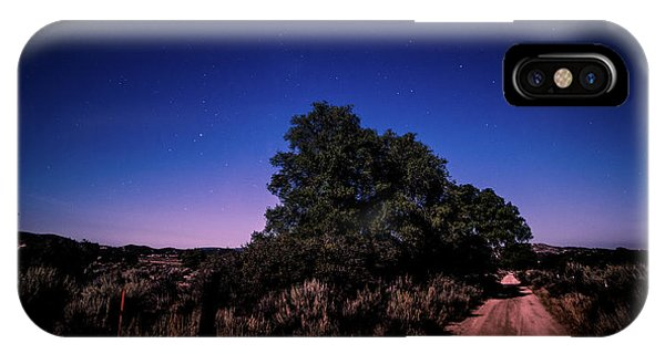 IPhone Case featuring the photograph Rural Starlit Road by T Brian Jones
