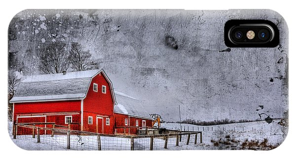Barn iPhone Case - Rural Textures by Evelina Kremsdorf