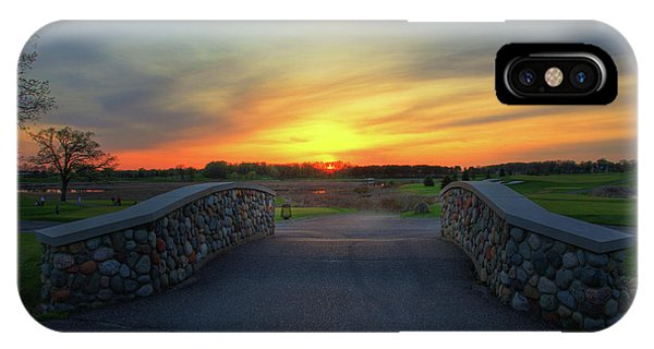 Rush Creek Golf Course The Bridge To Sunset IPhone Case