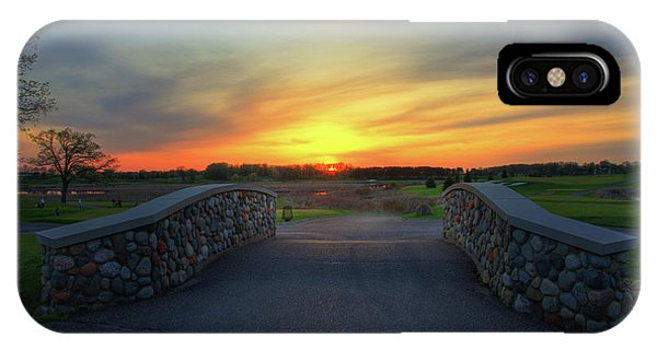 Rush Creek Golf Course The Bridge To Sunset IPhone Case
