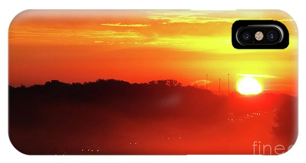 Rush Hour Begins At Sunrise I 94 To Madison Wisconsin IPhone Case