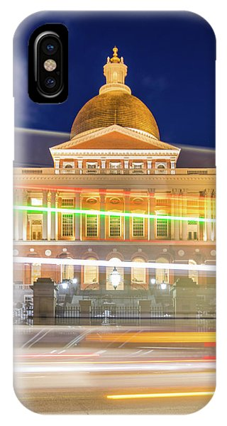 Rush Hour In Front Of The Massachusetts Statehouse IPhone Case