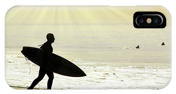 Surf iPhone Case - Rushing Surfer by Carlos Caetano