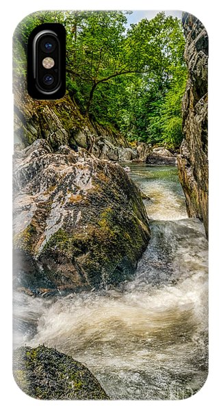 Fairy Glen iPhone Case - Rushing Waters  by Adrian Evans