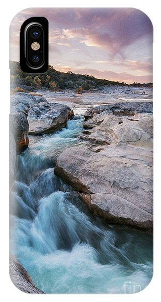 Bald Cypress iPhone Case - Rushing Waters At Pedernales Falls State Park - Texas Hill Country by Silvio Ligutti