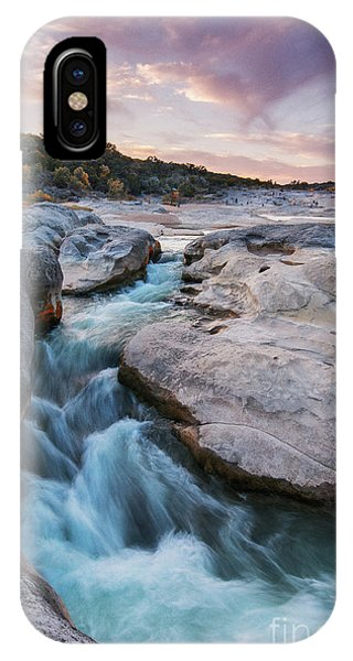 Rushing Waters At Pedernales Falls State Park - Texas Hill Country IPhone Case