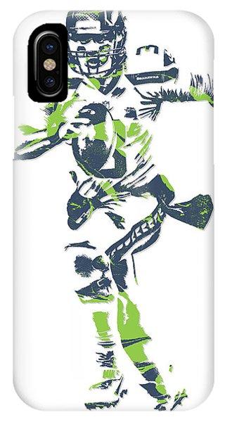 Sports iPhone Case - Russell Wilson Seattle Seahawks Pixel Art 14 by Joe Hamilton
