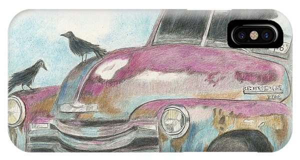 Old Chevy Truck iPhone Case - Rust In Peace by Arlene Crafton