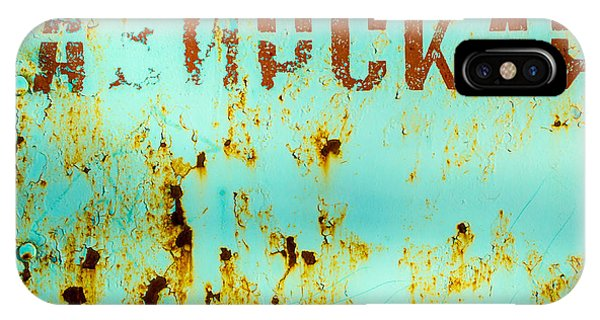 Rust On Metal Russian Letters IPhone Case