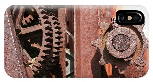 IPhone Case featuring the photograph Rusted Gears by Dylan Punke