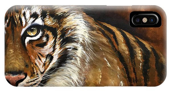 Rusted Tiger Phone Case by Holly Whiting