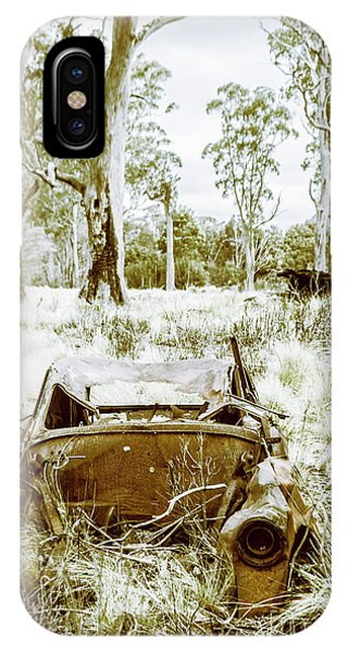 Wreck iPhone Case - Rustic Australian Car Landscape by Jorgo Photography - Wall Art Gallery